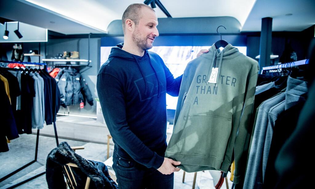 KOSTER: Alpinisten argumenterer for høye priser med at klærne er produsert i Europa, at de er bærekraftige og står for en god sak. En hettegenser fra merket kan sette deg tilbake over 2000 kroner. Foto: Thomas Rasmus Skaug / Dagbladet