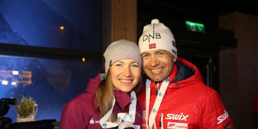 image: Bjørndalen til OL som støttespiller