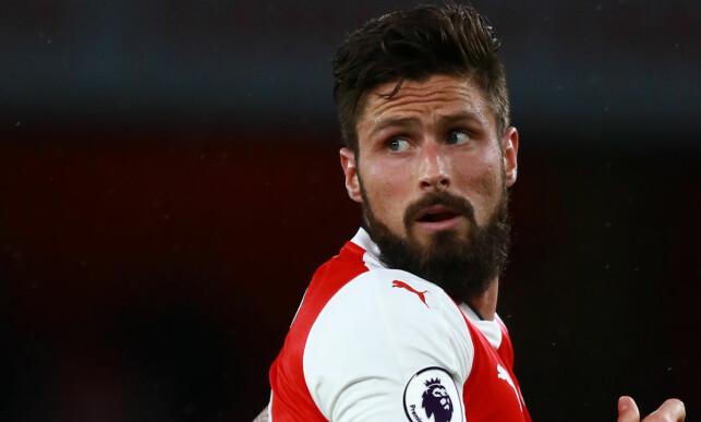 Å VEI BORT: Arsenals Olivier Giroud. Foto: Paul Marriott/REX/Shutterstock/NTB Scanpix