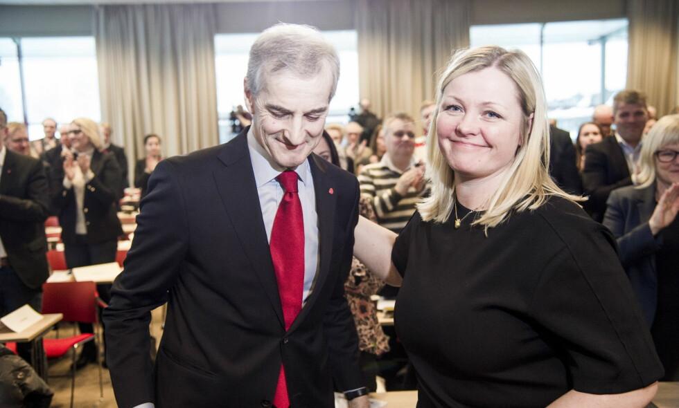 IKKE TIL STEDE: Partisekretær Kjersti Stenseng sier hun ikke var på påskefesten for gamle AUF-ere, selv om NRK hevdet det motsatte. Foto: Andreas Lekang / Dagbladet