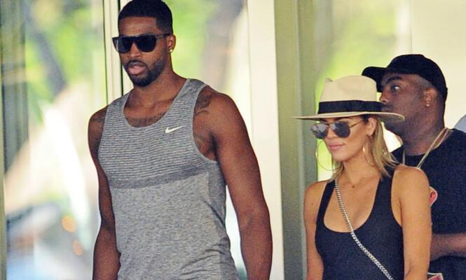 BLIR FORELDRE: Khloé Kardashian og Tristan Thompson venter sitt første barn. Foto: Splash News