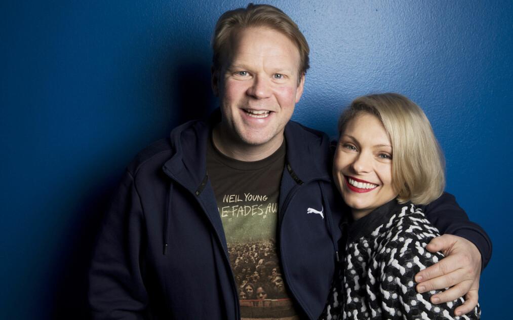 «EN NATT» PÅ NRK: Anders Baasmo Christiansen og svenske MyAnna Buring har hovedrollene i den nye dramasatsingen «En natt» på NRK. Her spiller de to som møtes på blind date. Foto: NTB Scanpix