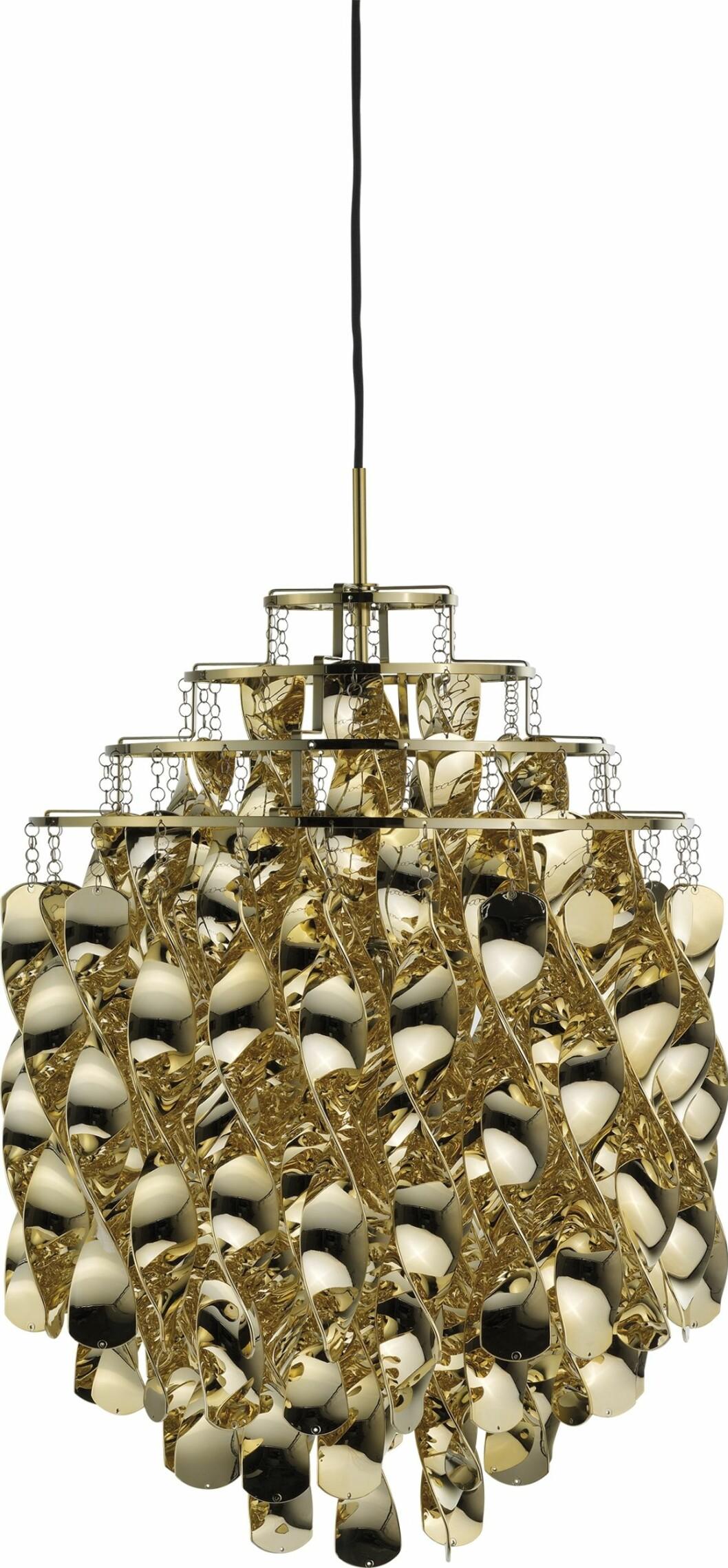 Taklampen Spiral SP01 er en evig klassiker, designet av Verner Panton i 1969(kr 12 460, Verpan).