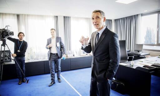 GENERALSEKRETÆR: NATOs Jens Stoltenberg på kontoret i Brussel Foto: Nina Hansen / Dagbladet