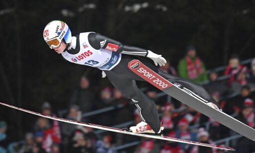 NUMMER ÅTTE: Marius Lindvik imponerte i Zakopane sist helg. Foto: NTB scanpix