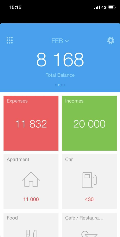 Hold oversikt over hva du bruker penger på med appen Spender. Foto: Screenshot