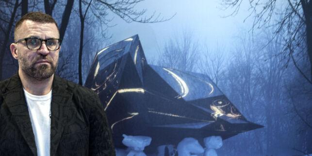 image: Bjarne Melgaard på sjarmoffensiv for å vise publikum sitt omstridte «dødshus»-prosjekt