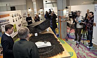 UTSTILLING: Det var stor medieinteresse da Bjarne Melgaard, Snøhetta og Selvaag presenterte utstillingen «A House to Die In» på Tjuvholmen torsdag. Foto: Anders Grønneberg