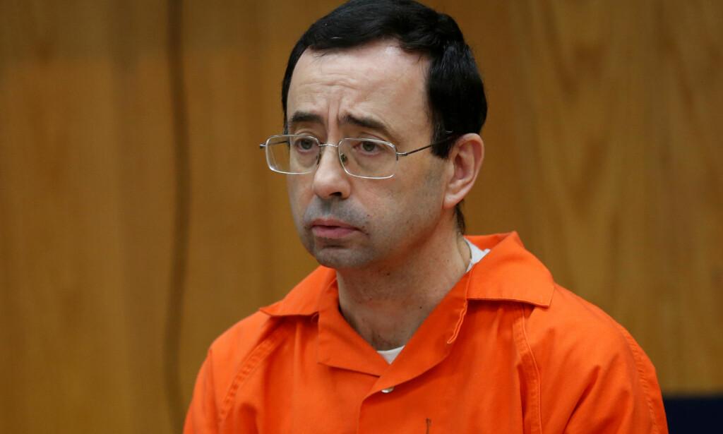 OVERGRIPER: Larry Nassar er dømt til fengsel i 175 år. Han har forgrepet seg på omkring 140 jenter over flere år. Foto: REUTERS/Rebecca Cook