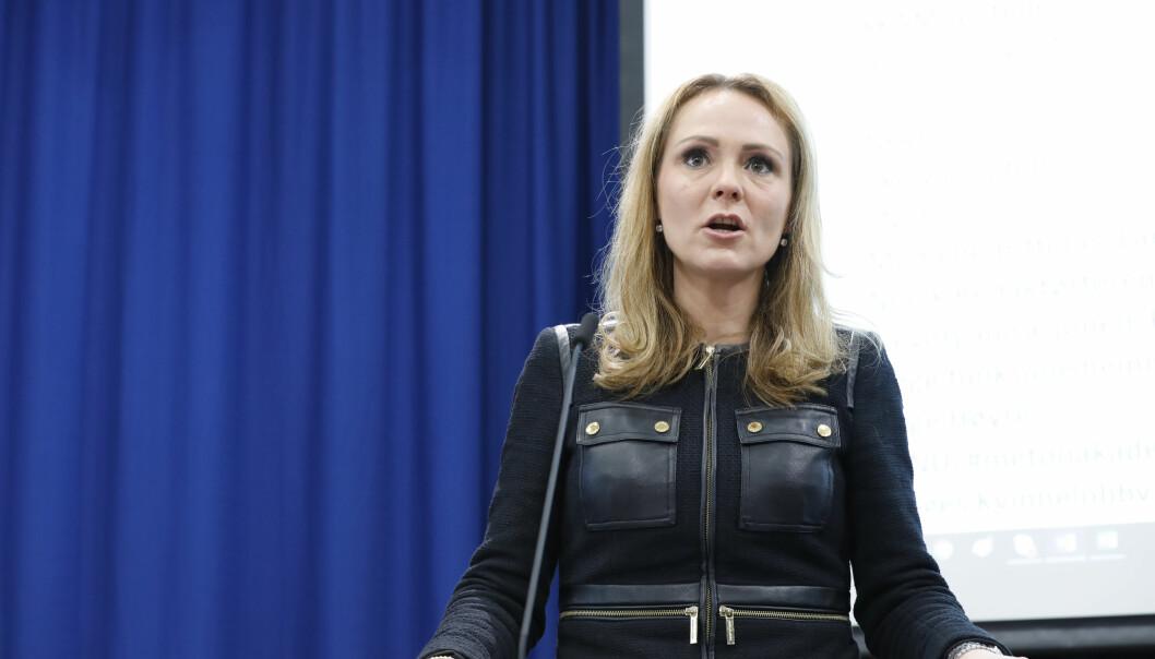 BEKYMRET: Linda Helleland er redd for at stadig mer utviklede dopingmetoder tas i bruk for å lure WADA. Foto: Gorm Kallestad / NTB scanpix