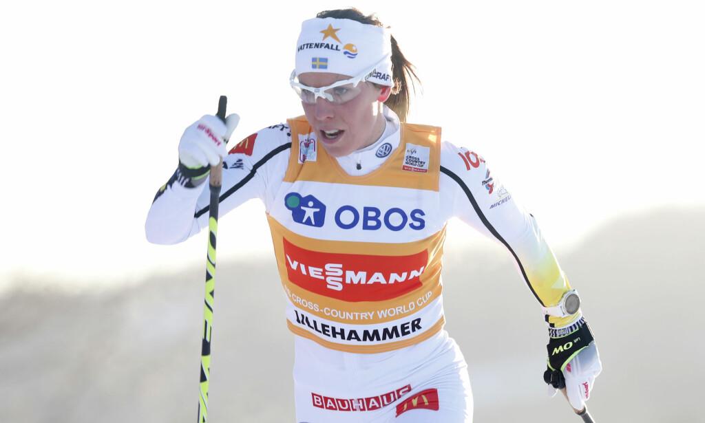 GÅR FOR GULL: Charlotte Kalla er favoritt på skiathlondistansen i OL i Pyeongchang. Foto: Terje Bendiksby / NTB scanpix.