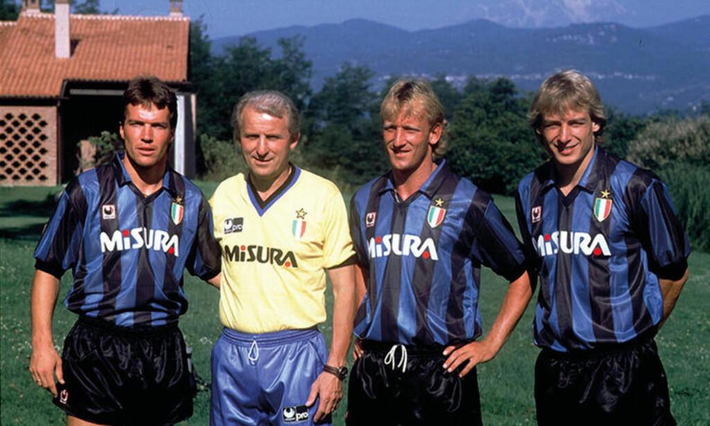 TYSK TRIO: Lothar Matthaüs, Andreas Brehme og Jürgen Klinsmann. Foto: FourFourTwo