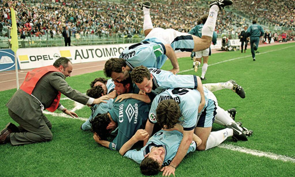 LAZIO-JUBEL: Lazio hentet flere stjerner på 90-tallet. Foto: FourFourTwo