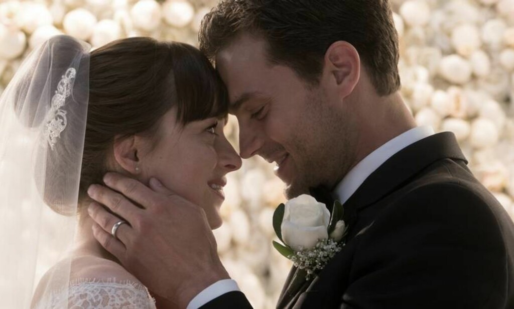 «FIFTY SHADES FREED»: KK ruller terningen på den tredje og siste filmen i «Fifty Shades»-serien, «Fifty Shades Freed». FOTO: Fifty Shades Freed