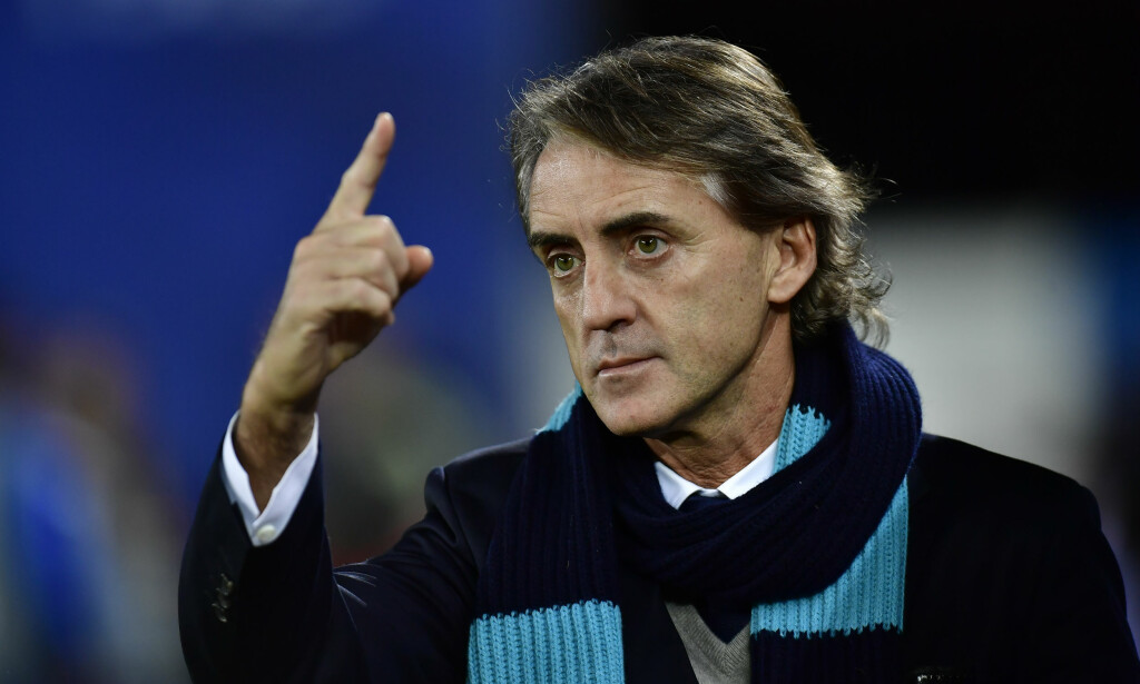 HAR TRENT I SERIE A: Roberto Mancini. Foto: AP Photo/Alvaro Barrientos/NTB Scanpix