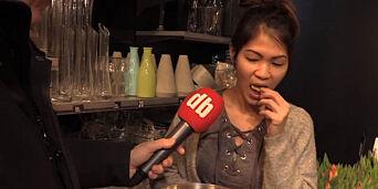image: Folk på gata hyllet og slaktet det nye potetgullet med sjokolade: - Åh! Jeg må ha litt til