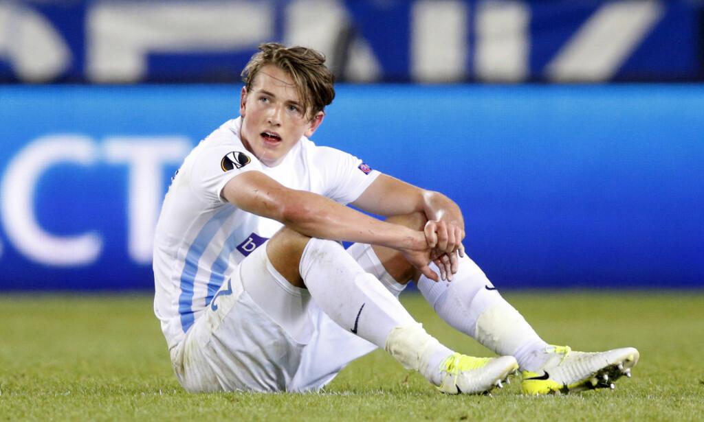 TØFFE MÅNEDER: Sander Berge har ikke spilt seriekamp for Genk i Belgia siden 25. oktober i fjor. Årsak: Muskelskade. Foto: NTB Scanpix