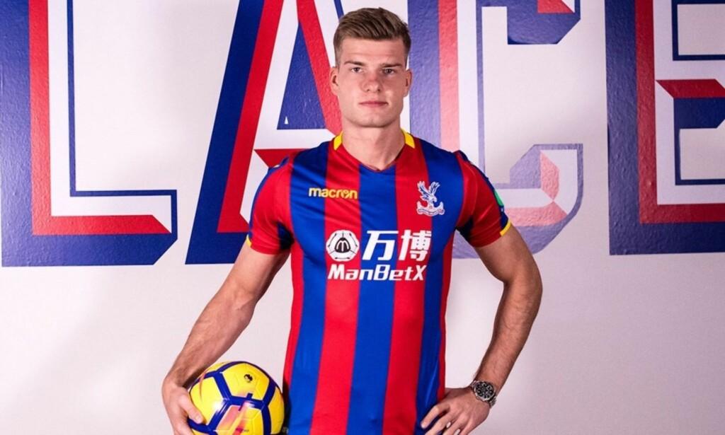 KLAR FOR PREMIER LEAGUE: Alexander Sørloth kan komme til å debutere for Crystal Palace allerede søndag. Motstander: Newcastle. Foto: Crystal Palace