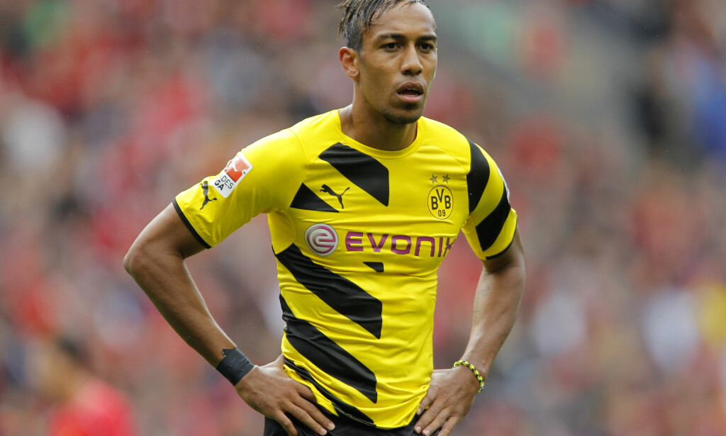File photo dated 10-08-2014 of Borussia Dortmund's Pierre-Emerick Aubameyang.