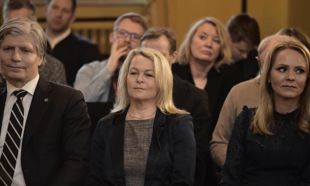 ELDREMINISTER: I januar ble Fremskrittspartiets Åse Michaelsen utnevnt til   Eldre- og folkehelseminister. Foto: Hans Arne Vedlog