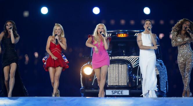 <strong>SISTE OPPTREDEN:</strong> I 2012 kunne fans verden over se Spice Girls opptre under OL i London. Foto: NTB Scanpix