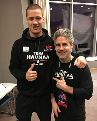 KUNNE IKKE NEKTE: Trener Joey Gamache forteller til Dagbladet at hans elev abslutt ikke møter en ønsket motstander. Foto: Bengt Berg
