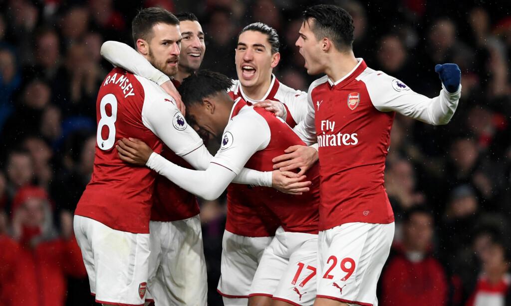 HERJET: Arsenal så ikke ut til å lide noen nød uten Alexis Sanchez. Foto: Reuters/Tony O'Brien