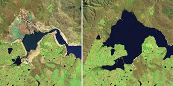 image: Oppsiktsvekkende satellittbilder viser den kritiske vannmangelen i Cape Town