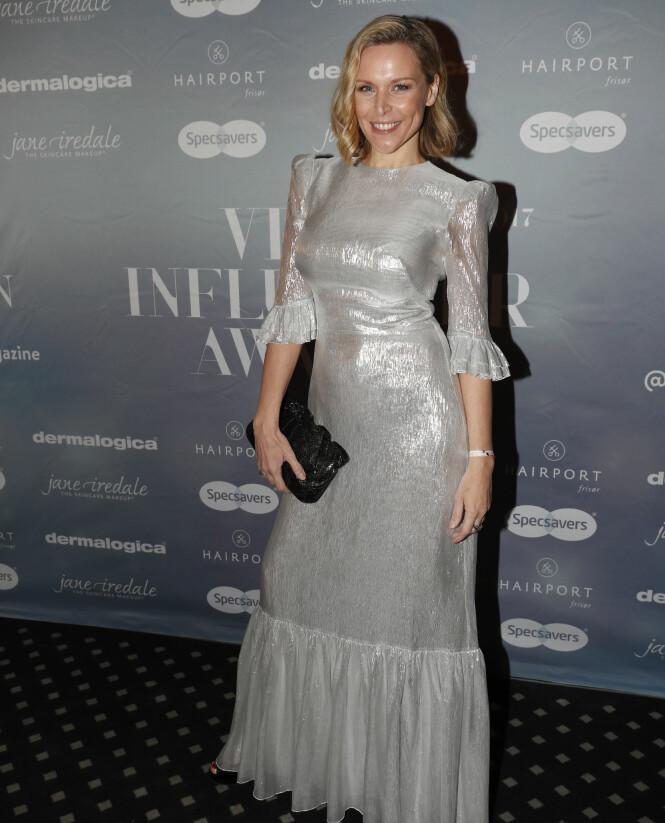 <strong>KOM I GRÅTT:</strong> Vanessa Rudjord kom i en fotsid, grå kjole til kveldens prisutdeling. Foto: NTB Scanpix.