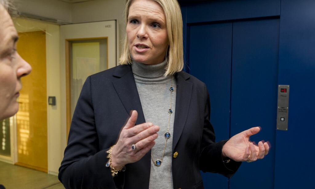 MÅ SVARE: Justisminister Sylvi Listhaug har sju dager på seg til å svare på spørsmålet fra SVs justispolitiske talsperson. Foto: Ned Alley / NTB scanpix