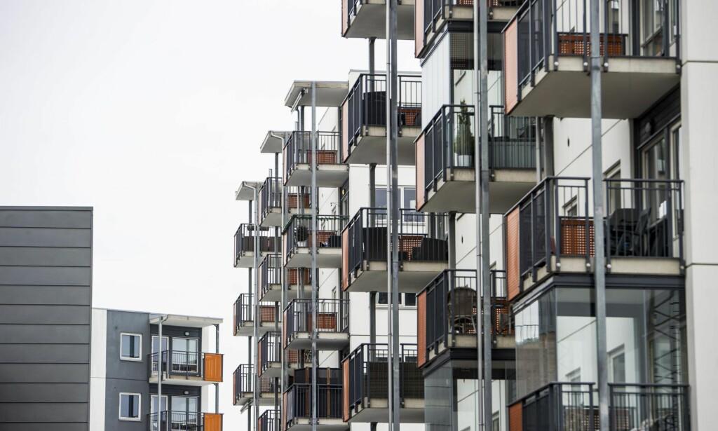 NYBYGG: Hasle er et av områdene litt utenfor sentrum av Oslo hvor det bygges nybygg. Eiendomsmeglerne ser med optimisme for boligmarkedet i 2018. <br>Foto: Andreas Lekang