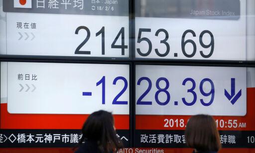 image: Tokyo-børsen stuper etter nedtur i USA