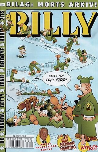 KOMMER JEVNLIG: Her er det nyeste nummeret av Billy i Norge.