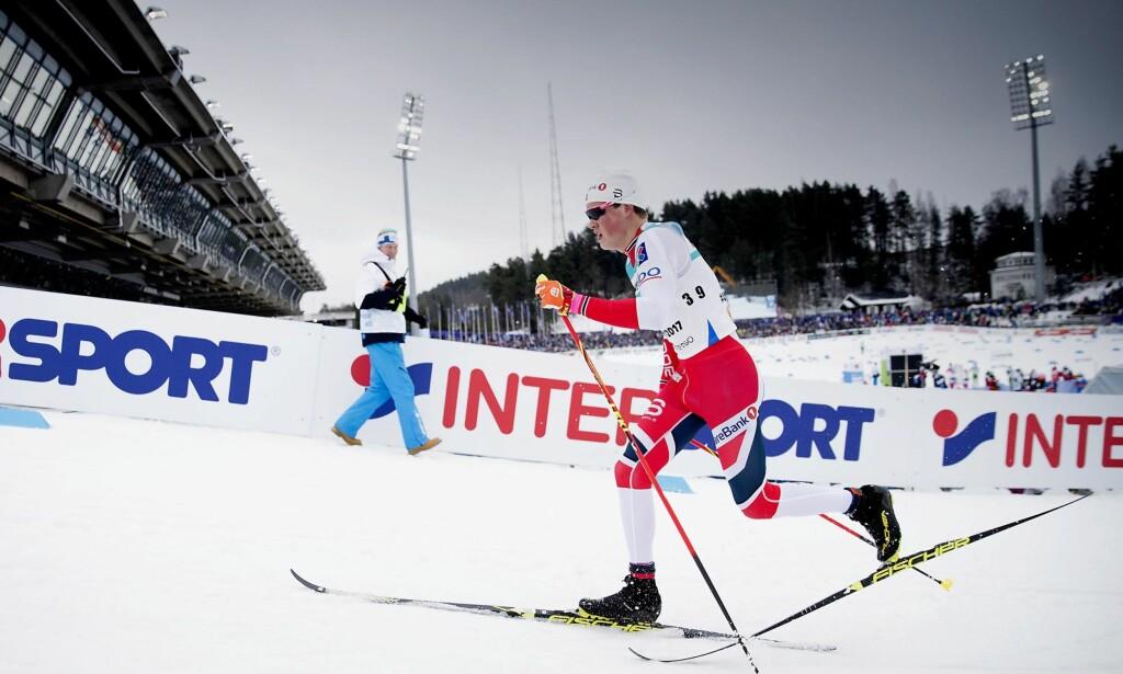 DEN NYE STANDARDEN: Johannes Høsflot Klæbo har overrasket alle konkurrenten med en unik stil. Her fra VM i Lahti. Foto: Bjørn Langsem / Dagbladet