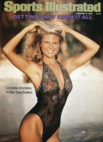 <strong>FØRSTE GANG:</strong> Det var i 1979 at Christie Brinkley prydet sin første forside av Sports Illustrated sin årlige badetøy-utgave. Foto: Faksimile