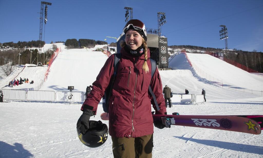 LITT BEKYMRET: Johanne Killi legger ikke skjul på at hun ikke er sånn kjempeglad i kulda. Her i Hafjell i fjor vår. Foto: Geir Olsen / NTB scanpix