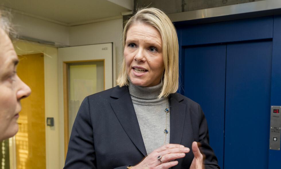 LEI DEBATTEN OM DEBATTEN: Sylvi Listhaug liker ikke diskusjonen om monster-begrepet hennes. Foto : Ned Alley / NTB scanpix