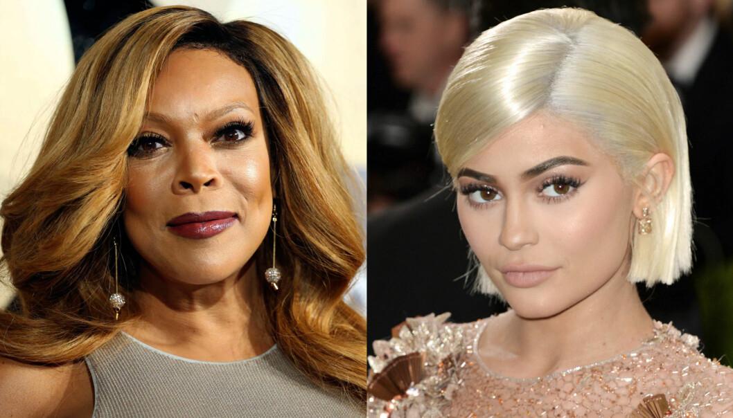FYRER LØS: TV-profil Wendy Williams (t.v.) er ikke redd for å si sin mening om Kardashian-/Jenner-klanen, deriblant den ferske mammaen Kylie Jenner. Foto: NTB scanpix