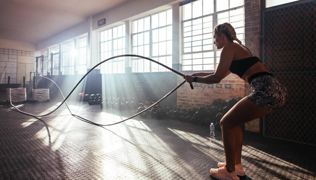 TRENING: Det nytter ikke å ligge på latsiden om du ønsker å trene som kjendisene. Foto: NTB Scanpix