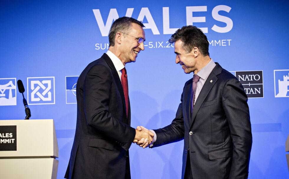 NATO: Jens Stoltenberg overtok som NATOs generalsekretær etter Anders Fogh Rasmussen i 2014. Foto: Lars Eivind Bones / Dagbladet