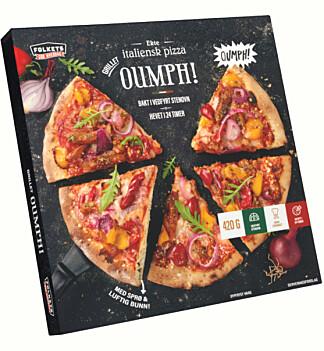 VEGETAR: Den nye pizzaen fra NorgesGruppen er toppet med grillet Oumph!. Foto: Unil