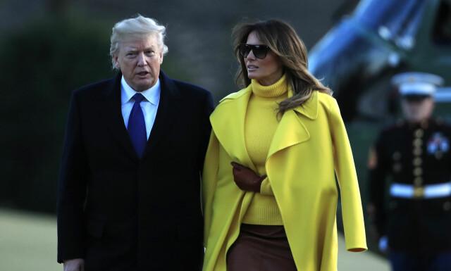 fe12bad1 FIENDTLIGHET: Det hevdes at Melania Trump har sett seg mett på skandalene  rundt ektemannen,