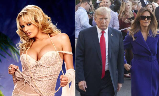 UTRO: Donald Trump hadde angivelig et sidesprang med pornoskuespilleren Stephanie Clifford, senere kjent som Stormy Daniels. Foto: NTB scanpix