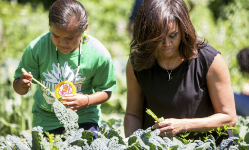 ENGASJERT: Michelle Obama har alltid gått i bresjen for et sunnere kosthold. Hun anla også en grønnsakshage på plenen foran Det hvite hus. (AP Photo/Andrew Harnik, File)