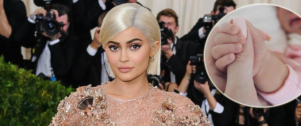 STORMI WEBSTER: Datteren til Kylie Jenner og Travis Scott har fått navnet Stormi Webster. FOTO: Frida.se