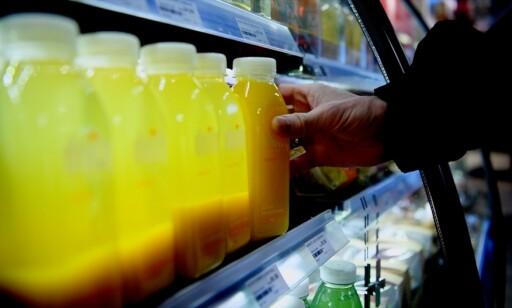 VARIERT: Utvalget er også stort på friske juicer og smoothies. Foto: Thomas Rasmus Skaug