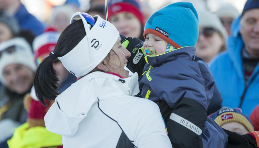 SUPERMAMMA: Marit Bjørgen fikk sønnen Marius for to år siden, men det har absolutt ikke satt noen demper på skikarrieren hennes. Foto: Terje Pedersen / NTB Scanpix