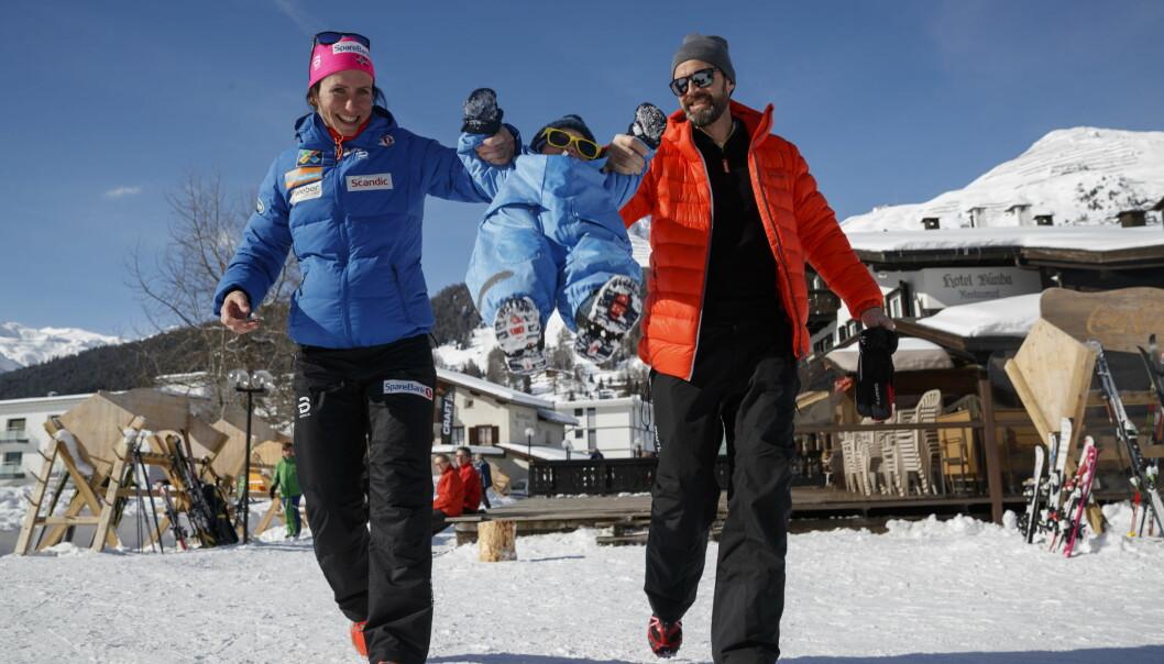 BLIR HJEMME: Når Marit Bjørgen går for Norge under OL i Pyeongchang, blir samboeren Fred Børre Lundberg og sønnen Marius hjemme. Foto: Cornelius Poppe / NTB scanpix