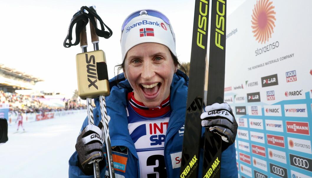 SKIDRONNING: Marit Bjørgen er blant favorittene til å ta gull for Norge under OL i Pyeongchang i Sør-Korea. Foto: Lise Åserud / NTB Scanpix
