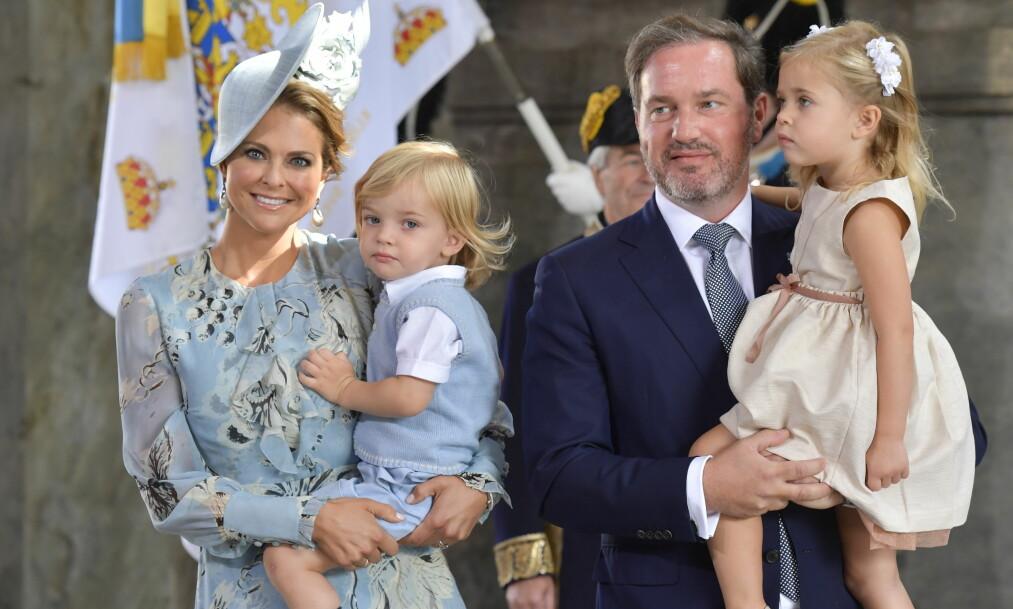 <strong>MELDER AVBUD:</strong> Den svenske prinsesse Madeleine og ektemannen Chris O'Neill har nok en gang meldt avbud i forkant av den årlige Nobelfesten. Foto: NTB Scanpix